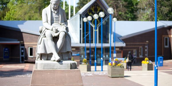 Statue of James Watt at Heriot-Watt University